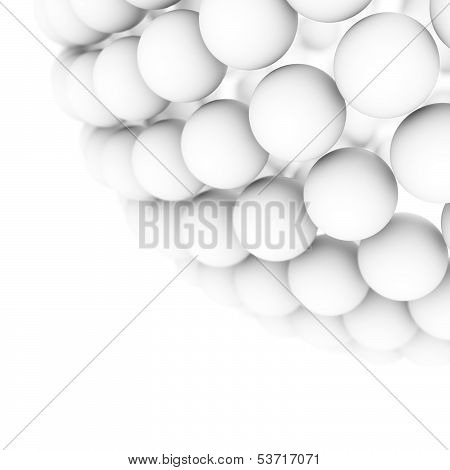 White Balls Background