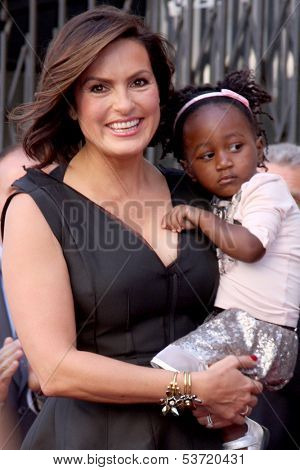 LOS ANGELES - NOV 8:  Mariska Hargitay, Amaya Josephine Hermann at the Mariska Hargitay Hollywood Walk of Fame Star Ceremony at Hollywood Blvd on November 8, 2013 in Los Angeles, CA\