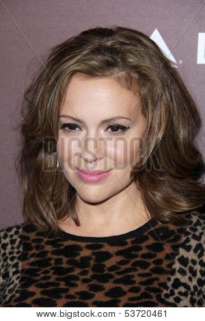 LOS ANGELES - NOV 6:  Alyssa Milano at the Hollywood Reporter's Next Gen 20th Anniversary Gala at Hammer Museum on November 6, 2013 in Westwood, CA