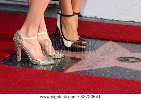 LOS ANGELES - NOV 8:  Hilary Swank, Mariska Hargitay at the Mariska Hargitay Hollywood Walk of Fame Star Ceremony at Hollywood Blvd on November 8, 2013 in Los Angeles, CA\