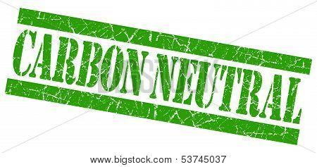 Carbon Neutral Grunge Green Stamp