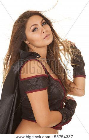 Woman Bandit Hair Blow Side Head Back