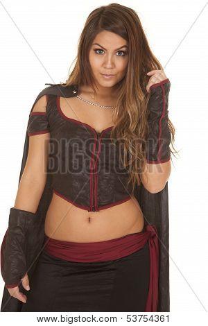 Woman Bandit Looking