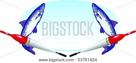 Fishing Oval Emblem
