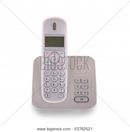 Household Cordless Telephone Isolated