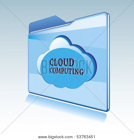 Cloud Computing Vector Icon
