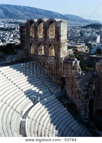 Seating At The Acropolis In Athens, Greece