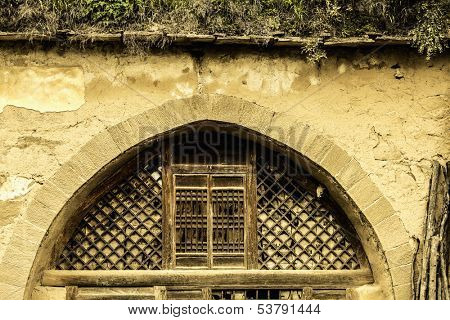 Archway and doorway in Shanxi Province
