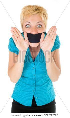 Censored Blond Woman