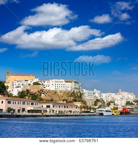 Mao Port of Mahon in Menorca at Balearic islands Spain poster