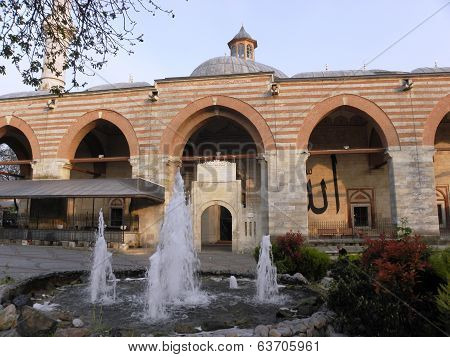 The old mosque build in 1414 year.
