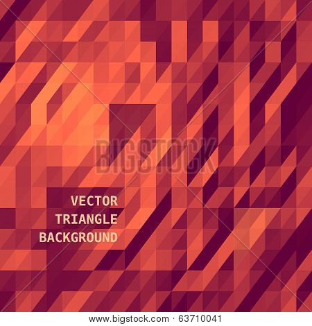 Abstract triangles background for design