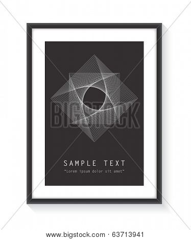 Black frame with design and text