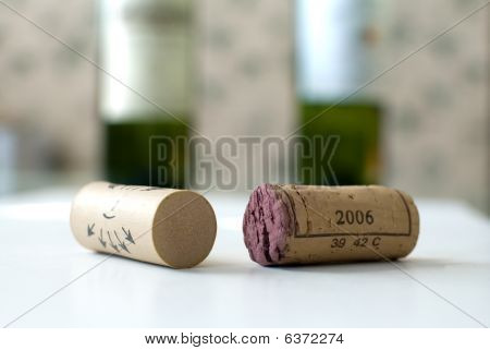 Corks And Bottles Of Wines