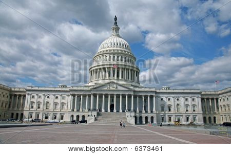 The Front Of The United States Capital Building