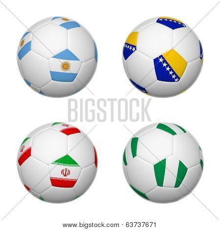 Soccer Balls Of Brazil 2014, Group F