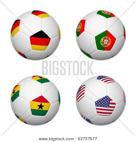 Soccer Balls Of Brazil 2014, Group G