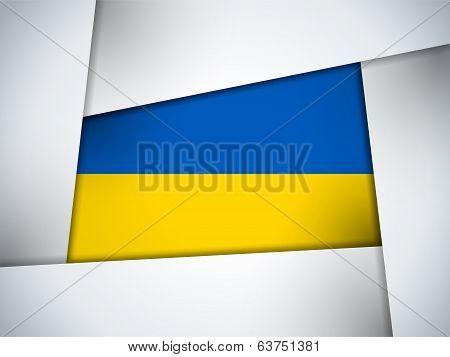 Ukraine Country Flag Geometric Background
