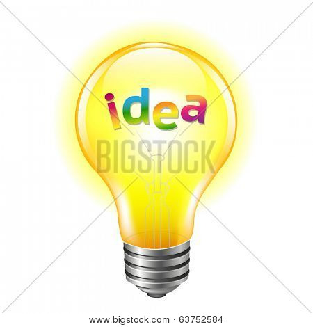 Bulb With Text Idea
