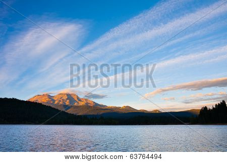 Mount Shasta at sunset
