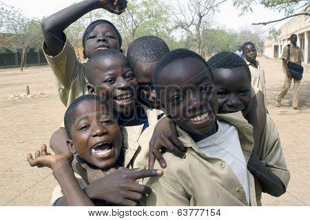 Schoolboys In Burkina Faso