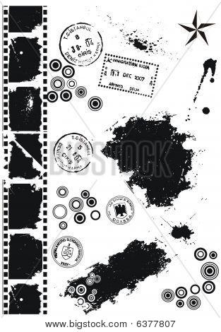 Set Of Grunge vector grunge elements