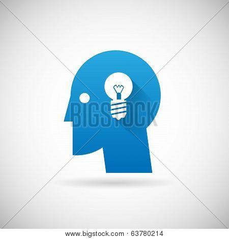 Idea Symbol Business Creativity Icon Design Template Vector Illustration