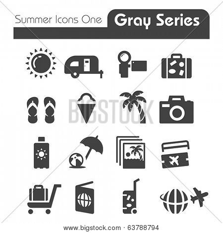 Summer Icons Two gray series One