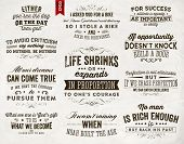 Set of Quotes Typographical Posters, Vector Design. Motivational Quotes for Inspirational Art. poster