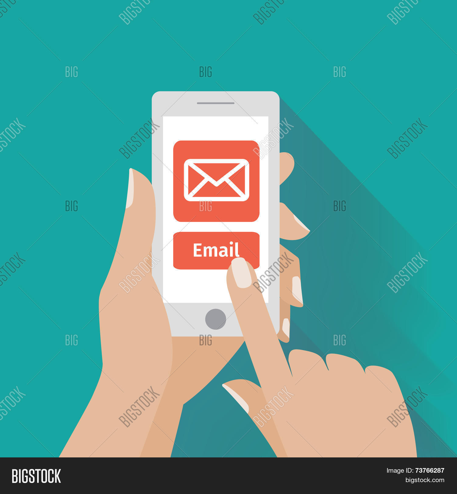 Hand Touching Smart Vector Photo Free Trial Bigstock