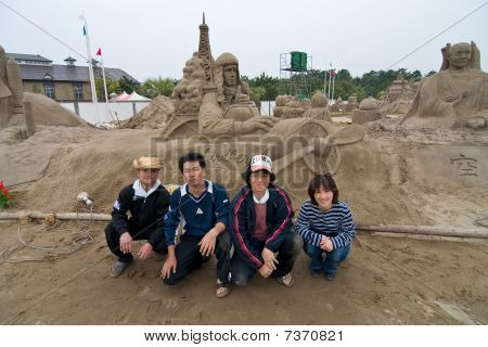 Sandsculptors of Charles Lindberg