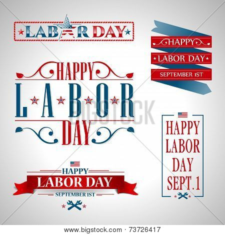 vector illustration Labor Day a national holiday of the United States love of the homeland and traditions of its people poster