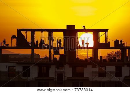 Construction Site On Sunset