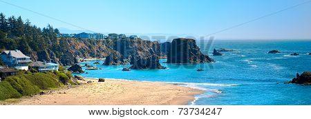Oregon Coast Panorama Landscape USA