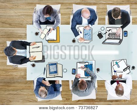 Business People in the Office Photo and Illustration