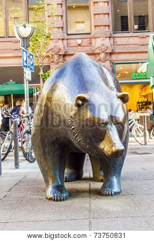 The Bull And Bear Statues At The Frankfurt Stock Exchange I