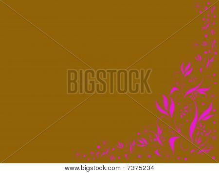 Brown And Pink Illustration Spring Design