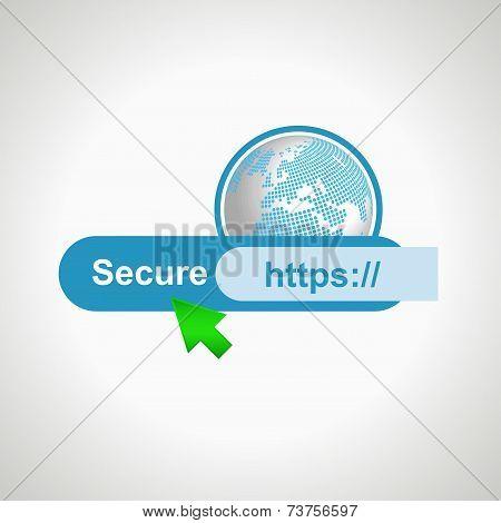 Secure icon internet. design element