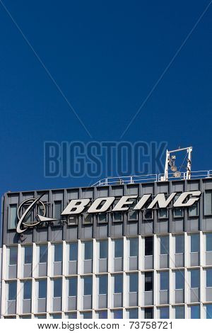 Boeing Manufacturing Facility And Logo