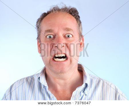 Man Enraged About Something