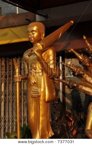 Buddha Brass Monk Umbrella