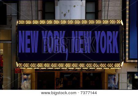 Cartelera de Nueva York