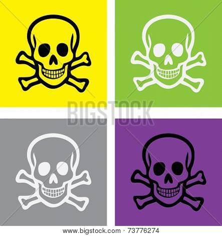 scull and bones isolated icons, signs, illustrations, silhouettes set, vector on background for web and mobile