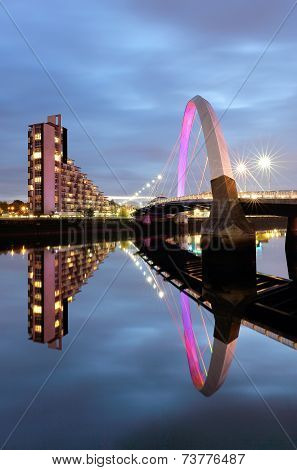 The Glasgow Clyde Arc Bridge