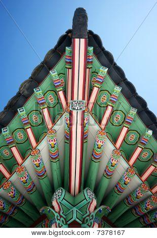 Traditional Korean Pavilion Details