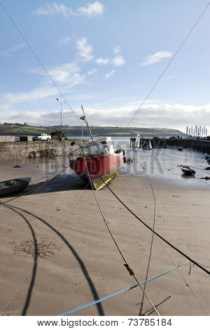 Fishing Boats Moored In Youghal Bay