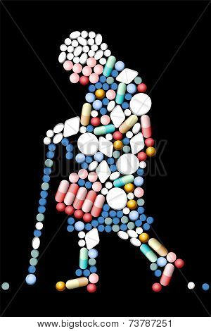 Pills Tablets Old Woman