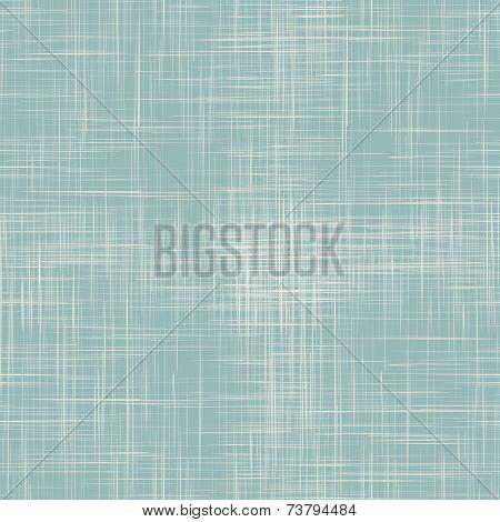 Blue linen seamless texture. EPS10 vector illustration poster