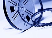 closeup image on classic 8mm movie film background poster
