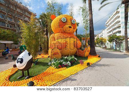 MENTON FRANCE - FEBRUARY 20: Lemon Festival (Fete du Citron) on the French Riviera.The theme for 201
